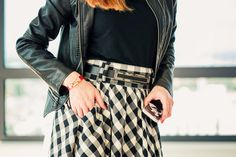 Happy Coffee Day in Gingham Skirt | Chic Cocktail