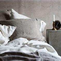 Lovely Linen - Devoted Linen Maker since 1992 Tadelakt, Nordic Design, Bed Pillows, Pillow Cases, Inspiration, Home, Natural, Shabby Chic, Pillows