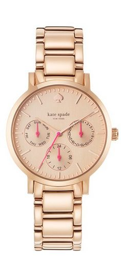 kate spade new york 'gramercy grand' chronograph bracelet watch, 38mm EUR 244.49	 Item #1060571 I WANT IN SILVER COLOR!