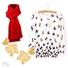 Inspiração nas borboletas! Esses brincos da Ronnelly são uma graça!  #butterfly #borboleta #vermelho #brincos