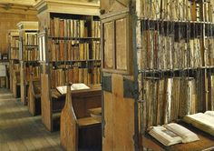 Anti-theft devices avant la lettre: the chained library of Hereford Cathedral.