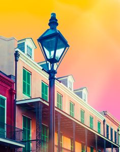 I love vibrant New Orleans. The French Quarter in the morning light. NOLA Lantern by Squint Photography