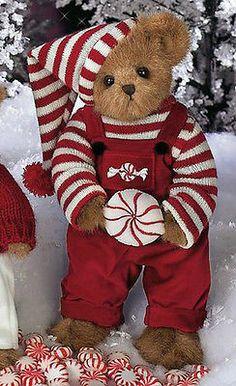 "Bearington Bears ""Peter Peppermint"" 14"" Christmas Bear- Sku#1575 - NWT- 200"