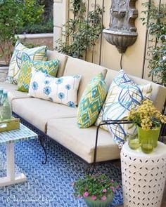 Outdoor Pillows On Sofa