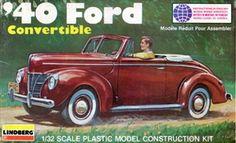 Lindberg 40 Ford 1/32 box art