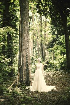 The bride is captured on the lush grounds of St. Nicholas Abbey in Barbados.Photography by Nancy Neil #erinfetherston