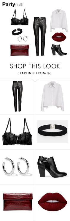 """""""red X black"""" by isabelle-henriksson on Polyvore featuring Y's by Yohji Yamamoto, Heidi Klum Intimates, ASOS, Sophie Buhai, MICHAEL Michael Kors, Christian Siriano and Lime Crime"""
