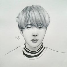 My sister's life ruiner . . . #Jin #KimSeokJin #BTS #Bangtanboys #방탄소년단 #진 #김석진 #pinkprincess #mom #fanart #portrait #btsfanart #kpopfanart #drawing #artist #artwork #sketch #illust #kpopart #kpop #bangtansonyeondan #pencil #inspiration #art #namjoon #hoseok #jimin #jungkook #taehyung #yoongi