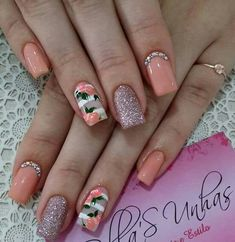 Gel toe nails summer flower designs 63 New ideas Gel Toe Nails, Nail Nail, Milky Nails, Summer Toe Nails, Spring Nails, Pretty Nail Art, Best Acrylic Nails, Flower Nails, Nails Inspiration