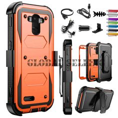 Rugged Armor Shockproof Hybrid Hard Belt Clip Case Cover +Accessory For LG Phone Lg Phone, Cool Phone Cases, Cell Phone Accessories, Belt, Cover, Phones, Awesome, Amp, Belts