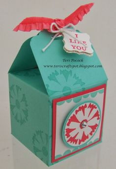 Stampin' Up! UK Demonstrator - Teri Pocock: Petal Parade - 2, 4, 6, 8 Treat Box... With tutorial