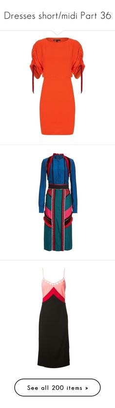 """Dresses short/midi Part 36"" by leanne-mcclean ❤ liked on Polyvore featuring dresses, 2 piece dress, maje dress, red dress, crepe dress, red ruched dress, blue stripe dress, color block dress, colorblocked dress and colour block dress"