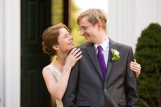 Come up from behind for your big reveal so that he can have his first look at you be your face.  Susanna and Paul's Joyful Wedding at the Bradley Estate » Fucci's Photos of Boston | Boston Wedding Photographer