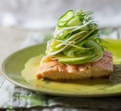 BreadnButter Spring Summer 2013 Online food magazine, passionate about good food, wine, fabulous food photography and pretty vintage props. Pan Fried Salmon, Vintage Props, Cucumber Salad, Fabulous Foods, Fennel, Seafood Recipes, Food Styling, Food Photography, Good Food