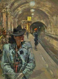 Адливанкин Самуил Яковлевич (1897-1966) «В метро» 1945