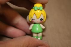 Peter Pan and Tinkerbell Polymer Clay Chibis via Etsy