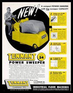Barredora Tennant modelo 24