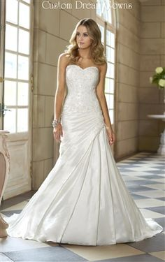 Gorgeous Luxe Taffeta Fit and Flare A-Line Gown with Sweetheart ...