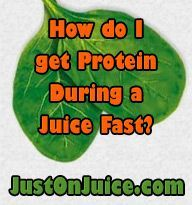 How do I get Protein     How do I get Protein During a Juice Fast? This is a question that I find being asked a lot lately. I always respond by saying you get protein from the many fruits and vegetables you're juicing.  #Justonjuice   #Juicing   ( www.justonjuice.c... )  https://www.pinterest.com/pin/17310779795211623/   Also check out: http://kombuchaguru.com