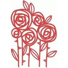 Silhouette Design Store - View Design #66298: roses papercut
