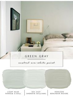 Our the coco kelley Guide to the Best Neutral Paint Colors that AREN'T White | Green Grays