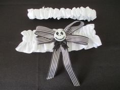 Nightmare Before Christmas Wedding Garter by AmethystWaysFairies