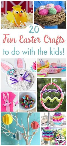 20 Fun Easter Crafts There are so many fantastic things to make at Easter with the little ones. Check out these ideas at The Inspiration Edit #eastercrafts #easter #easterbunny #eastereggs #easterbasket #craftwarehouse #preschool #homeschool