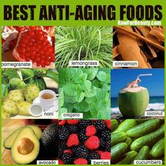 Best anti-aging foods ❥➥❥ pomegranate, lemongrass, cinnamon, noni, oregano, coconut, avocado... pinned with Pinvolve - pinvolve.co