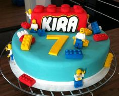 Lego taart (Lego birthday cake).