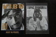 Tupac Shakur 2Pac Original Crime Scene Photos w Mailing Envelope Funeral Cards
