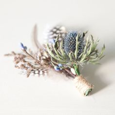 Mens Thistle and Feather by TinyBitMarvellous on Etsy, $10.00