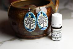Sage and Cedar Scented Ceramic Earrings with Sage and by surly, $38.95