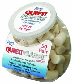 Apothecary Products Flents Quiet Please Foam Ear Plugs  50-Pair by Flents by Apothecary Products, http://www.amazon.com/dp/B001J4HB1C/ref=cm_sw_r_pi_dp_AB7nrb1YG4RWZ