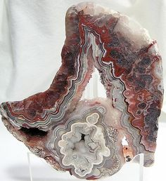 Crazy Lace Agate Polished Slice Druzy Center by FenderMinerals