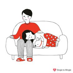 couple in love illustration Love Illustration, Couples In Love, Marriage, Snoopy, Culture, Gifs, Fictional Characters, Design, Art