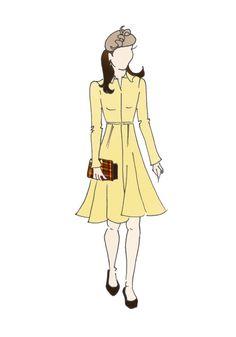 "Duchess of Cambridge Fashion Coat Print 8.5""x11""  - Emilia Wickstead Yellow Coat"
