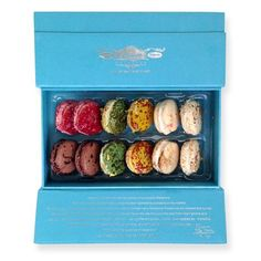 """L'Artisan Macarons.  As decadent as they are beautiful, they're being called, """"The best macaroon outside of Paris!"""" They come is a gorgeous box that's ideal for gifting!"""