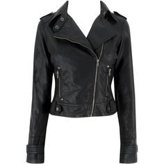 Ladies Zipper Biker Jacket ($15) ❤ liked on Polyvore featuring outerwear, jackets, black, coats, leather jackets, salewomensview all sale, women's clothing, genuine leather biker jacket, genuine leather jackets and moto zip jacket