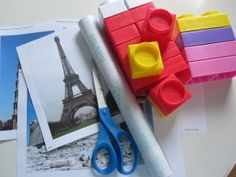 Love this world landmarks building blocks idea from No Time For Flashcards!