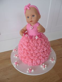 Doll Cake Designs For Baby Girl : Baby Doll Party Birthday Cake (i m thinking I ll do a cake ...