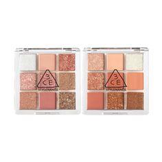 3ce Makeup, Pink Makeup, Glam Makeup, Eyeshadow Makeup, Makeup Palette, Eyeshadow Palette, Korean Makeup Brands, Olive Young, Kawaii