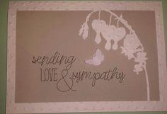 Bleeding heart sympathy card
