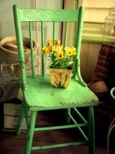Love the chair and the flowers