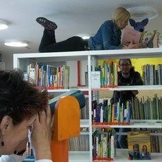 Bildungsforum Potsdam: Wir präsentieren nun eines unserer Lieblingsregale in unserer Kinderwelt im #Bildungsforum. Der Kreativität sind dort keine Grenzen gesetzt - wie ihr sehen könnt.