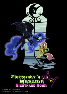 Fluttershy's Mansion - Nightmare Moon by Niban-Destikim. I would so play this!