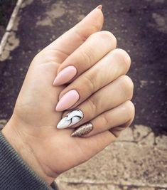 Manicure e pedicure - birthday nails - Unhas Perfect Nails, Gorgeous Nails, Love Nails, My Nails, Pink Nails, Classy Nails, Trendy Nails, Marble Nail Art, Prego
