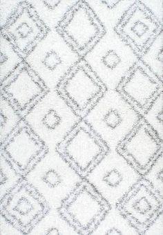 NuLOOM Lola Easy White Shag Area Rug   Domino