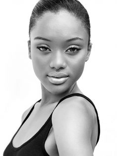 pinterest.com/fra411 #black #beauty - Model Christina Knight (Saint International Jamaica Agency).
