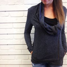 Charming jacket. #zipup #comfy #hunnistyle #fall