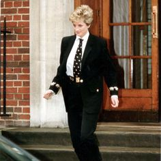 March 15, 1994: Princess Diana visiting her new nephew, Louis Frederick born to Earl Spencer and his wife, Victoria, at St. Mary's Hospital, Paddington.